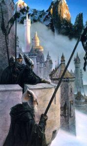 Alan Lee's version of Minas Tirith.