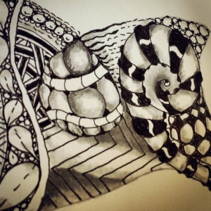 Zentangle by me. An early effort.