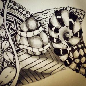 Zentangle by me. An early effort.