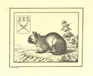 Here is a giant cat by a river contemplating its new coat of arms. As one does.