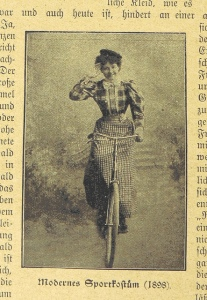 This 1890s biker chick salutes you Robbie Maddison.