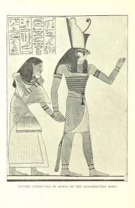 Adding thoughtful or hilarious captions dates back eons, as this annotated Egyptian illustration demonstrates. Ah, so funny.
