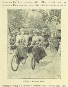 My idea of a two wheeled stunt: wearing a dress while riding.
