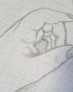 Actual sketch of my very hand, done by my very hand, about a six or seven years ago.