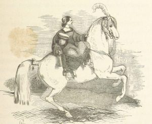A girl side saddle on a white horse is entirely different to The Black Stallion.
