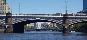 The oldest bridge in Melbourne is a copy of Blackfriars Bridge in London. Plus trams.