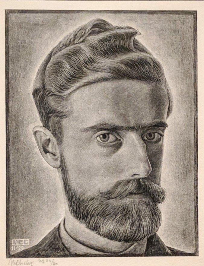 MC Escher self portrait art NGV
