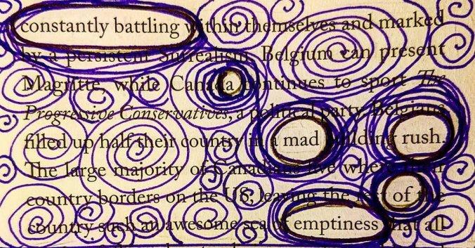 Erasure poetry found poem